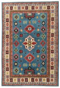Kazak Vloerkleed 204X303 Echt Oosters Handgeknoopt Donkerrood/Donkerblauw (Wol, Afghanistan)
