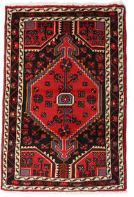 Hamadan Vloerkleed 67X81 Echt Oosters Handgeknoopt Donkerbruin/Donkerrood (Wol, Perzië/Iran)
