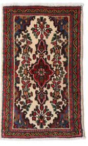 Asadabad Vloerkleed 52X85 Echt Oosters Handgeknoopt Donkerbruin/Donkerrood (Wol, Perzië/Iran)