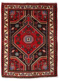 Hamadan Vloerkleed 67X89 Echt Oosters Handgeknoopt Donkerbruin/Donkerrood (Wol, Perzië/Iran)