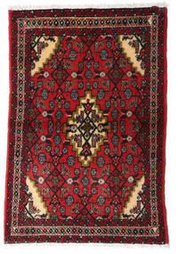 Asadabad Vloerkleed 60X90 Echt Oosters Handgeknoopt Donkerrood/Donkerbruin (Wol, Perzië/Iran)