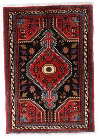 Hamadan Vloerkleed 60X82 Echt Oosters Handgeknoopt Donkerrood/Donkerbruin (Wol, Perzië/Iran)