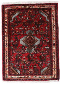 Asadabad Vloerkleed 60X83 Echt Oosters Handgeknoopt Donkerrood/Donkerbruin (Wol, Perzië/Iran)