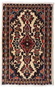 Asadabad Vloerkleed 54X83 Echt Oosters Handgeknoopt Zwart/Donkerbruin (Wol, Perzië/Iran)