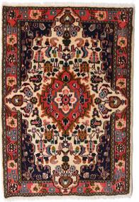 Asadabad Vloerkleed 60X87 Echt Oosters Handgeknoopt Zwart/Donkerbruin (Wol, Perzië/Iran)