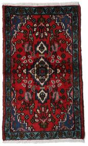 Asadabad Vloerkleed 54X90 Echt Oosters Handgeknoopt Donkerrood/Rood (Wol, Perzië/Iran)