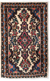 Asadabad Vloerkleed 54X84 Echt Oosters Handgeknoopt Zwart/Donkerbruin (Wol, Perzië/Iran)