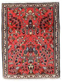 Sarough Vloerkleed 61X80 Echt Oosters Handgeknoopt Donkerbruin/Rood (Wol, Perzië/Iran)
