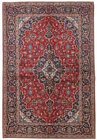 Keshan Vloerkleed 149X223 Echt Oosters Handgeknoopt Donkerrood/Donkerpaars (Wol, Perzië/Iran)