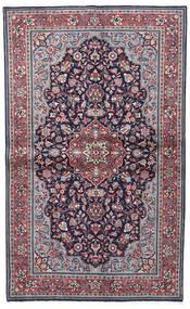 Sarough Sherkat Farsh Vloerkleed 130X208 Echt Oosters Handgeknoopt Donkerpaars/Lichtgrijs (Wol, Perzië/Iran)