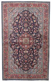Sarough Sherkat Farsh Vloerkleed 128X210 Echt Oosters Handgeknoopt Donkerpaars/Lichtgrijs (Wol, Perzië/Iran)