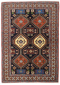 Ardebil Vloerkleed 138X191 Echt Oosters Handgeknoopt Donkerbruin/Donkerrood (Wol, Perzië/Iran)