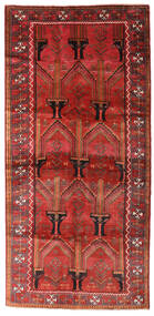 Beluch Vloerkleed 124X258 Echt Oosters Handgeknoopt Tapijtloper Donkerrood/Roestkleur (Wol, Perzië/Iran)