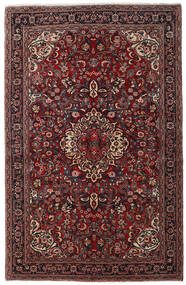 Jozan Vloerkleed 138X215 Echt Oosters Handgeknoopt Donkerrood/Zwart (Wol, Perzië/Iran)