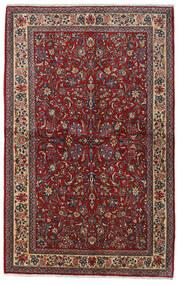 Sarough Sherkat Farsh Vloerkleed 135X212 Echt Oosters Handgeknoopt Donkerrood/Donkergrijs (Wol, Perzië/Iran)