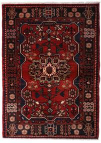 Hamadan Vloerkleed 113X158 Echt Oosters Handgeknoopt Donkerbruin/Donkerrood (Wol, Perzië/Iran)