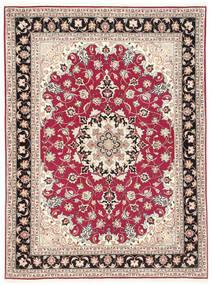 Tabriz 50 Raj Vloerkleed 151X200 Echt Oosters Handgeknoopt Beige/Lichtgrijs (Wol/Zijde, Perzië/Iran)