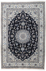 Nain Vloerkleed 197X290 Echt Oosters Handgeknoopt Lichtgrijs/Donkergrijs (Wol, Perzië/Iran)