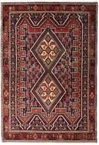 Afshar Shahre Babak Vloerkleed 125X182 Echt Oosters Handgeknoopt Donkerrood/Donkerbruin (Wol, Perzië/Iran)