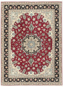 Tabriz 50 Raj Vloerkleed 152X205 Echt Oosters Handgeknoopt Lichtgrijs/Beige (Wol/Zijde, Perzië/Iran)