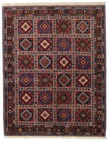 Yalameh Vloerkleed 150X190 Echt Oosters Handgeknoopt Donkerrood/Donkergrijs (Wol, Perzië/Iran)
