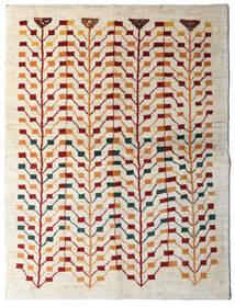 Gabbeh Perzisch Vloerkleed 151X198 Echt Modern Handgeknoopt Beige/Lichtgrijs (Wol, Perzië/Iran)