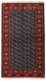 Turkaman Vloerkleed 129X219 Echt Oosters Handgeknoopt Donkerrood/Zwart (Wol, Perzië/Iran)