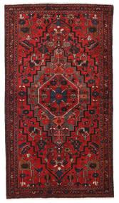 Hamadan Vloerkleed 124X223 Echt Oosters Handgeknoopt Donkerrood/Roestkleur (Wol, Perzië/Iran)