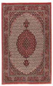 Bidjar Met Zijde Vloerkleed 112X178 Echt Oosters Handgeknoopt Donkerrood/Donkerbruin (Wol/Zijde, Perzië/Iran)