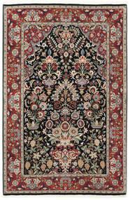 Ilam Sherkat Farsh Zijde Vloerkleed 105X155 Echt Oosters Handgeknoopt Donkerrood/Lichtgrijs (Wol/Zijde, Perzië/Iran)