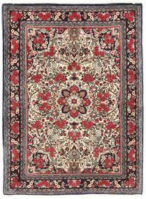 Bidjar Vloerkleed 115X155 Echt Oosters Handgeknoopt Donkerbruin/Donkerrood (Wol, Perzië/Iran)