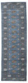 Pakistan Bokhara 3Ply Vloerkleed 80X251 Echt Oosters Handgeknoopt Tapijtloper Blauw/Donkerblauw (Wol, Pakistan)