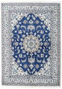 Nain Vloerkleed 150X200 Echt Oosters Handgeknoopt Donkerblauw/Lichtblauw (Wol, Perzië/Iran)
