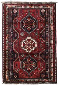 Ghashghai Vloerkleed 124X183 Echt Oosters Handgeknoopt Zwart/Donkerrood (Wol, Perzië/Iran)
