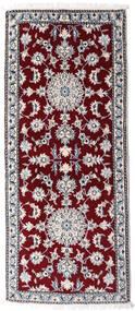 Nain Vloerkleed 83X190 Echt Oosters Handgeknoopt Tapijtloper Donkerrood/Beige (Wol, Perzië/Iran)
