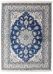 Nain Vloerkleed 153X206 Echt Oosters Handgeknoopt Lichtgrijs/Donkerblauw (Wol, Perzië/Iran)