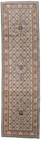 Moud Vloerkleed 81X296 Echt Oosters Handgeknoopt Tapijtloper Lichtgrijs/Wit/Creme (Wol/Zijde, Perzië/Iran)