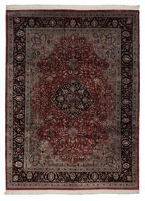 Keshan Indiaas Vloerkleed 248X335 Echt Oosters Handgeknoopt Zwart/Beige (Wol, India)