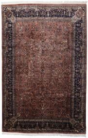 Keshan Indiaas Vloerkleed 241X368 Echt Oosters Handgeknoopt Zwart/Donkerbruin (Wol, India)
