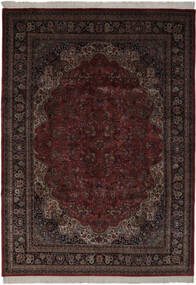 Keshan Indiaas Vloerkleed 256X361 Echt Oosters Handgeknoopt Zwart Groot (Wol, India)