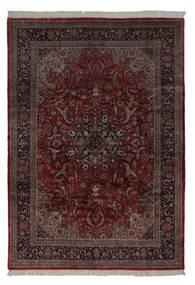 Keshan Indiaas Vloerkleed 241X350 Echt Oosters Handgeknoopt Zwart/Beige (Wol, India)