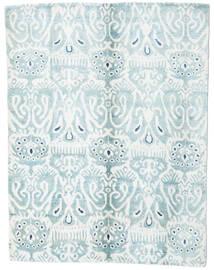 Sari Puur Zijde Vloerkleed 153X200 Echt Modern Handgeknoopt Wit/Creme/Lichtblauw (Zijde, India)