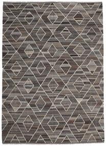 Kelim Ariana Vloerkleed 256X358 Echt Modern Handgeweven Donkergrijs/Lichtgrijs Groot (Wol, Afghanistan)