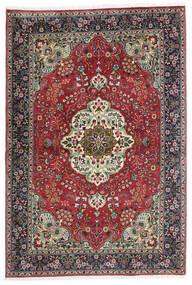 Tabriz Vloerkleed 100X150 Echt Oosters Handgeknoopt Zwart/Donkergrijs (Wol, Perzië/Iran)