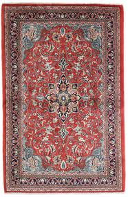 Sarough Vloerkleed 108X165 Echt Oosters Handgeknoopt Roestkleur/Donkerpaars (Wol, Perzië/Iran)