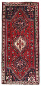 Ghashghai Vloerkleed 75X160 Echt Oosters Handgeknoopt Tapijtloper Donkerrood/Donkerbruin (Wol, Perzië/Iran)