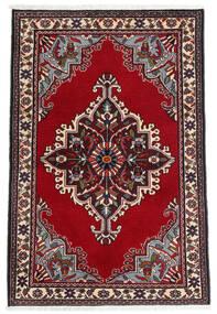 Sarough Vloerkleed 90X135 Echt Oosters Handgeknoopt Donkerrood/Beige (Wol, Perzië/Iran)