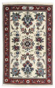 Sarough Vloerkleed 86X136 Echt Oosters Handgeknoopt Beige/Donkerbruin (Wol, Perzië/Iran)