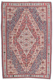 Kelim Senneh Vloerkleed 148X225 Echt Oosters Handgeweven Donkergrijs/Lichtgrijs (Wol, Perzië/Iran)