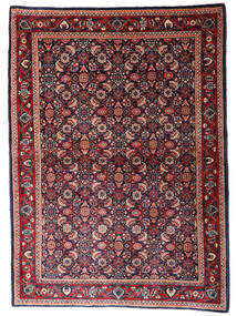 Sarough Vloerkleed 110X155 Echt Oosters Handgeknoopt Donkerblauw/Donkerrood (Wol, Perzië/Iran)